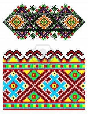 illustrations of ukrainian embroidery ornaments