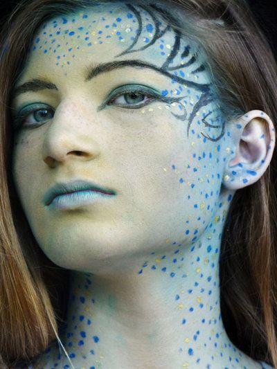 ... Makeup, Makeup Aliens, Fairies Makeup, Alien Makeup, Fairy Eye Makeup