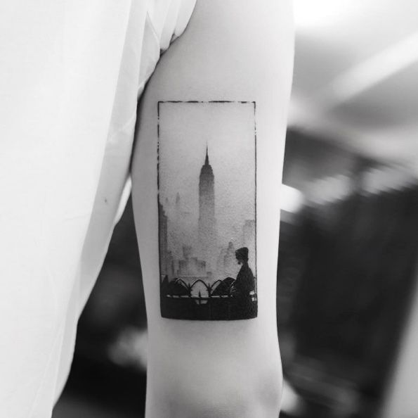 Empire State Building by Balazs Bercsenyi