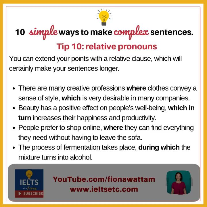 Complex Sentence Video Writing Ielt A Paraphrase May Need Signal Phrase Point 1
