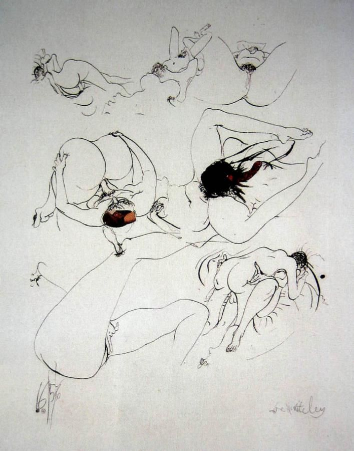 Brett Whiteley - One Page of a Love Letter (collage, pen and ink)