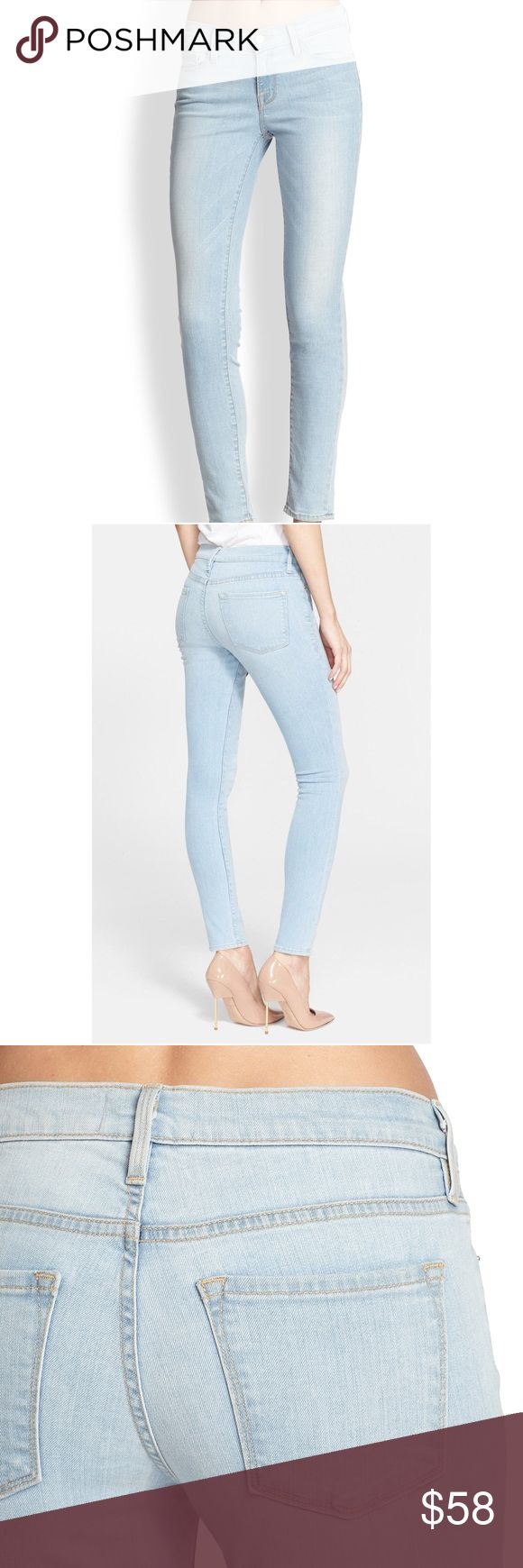 "Frame denim jeans La Skinny de Jeanne London-inspired style combined with the quality of the L.A. denim industry informs a chic pair of go-to jeans with a classic skinny cut. Supersoft and super stretchy tech denim offers a flattering fit that slims the thighs while lifting the rear. Approx 28"" inseam ; 8"" front rise; 13"" back rise (size 28). Zip fly with button closure. Five-pocket style 93% cotton, 5% polyester, 2% Lycra® spandex. Machine wash cold, tumble dry low. By Frame Denim; made in…"