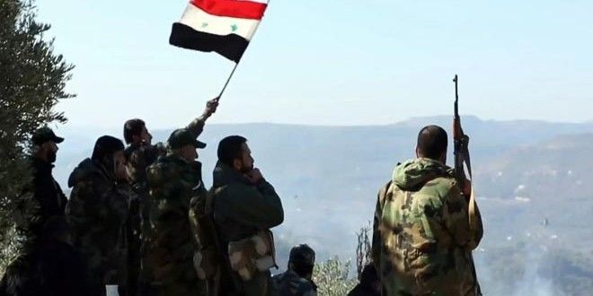 Units of the army and armed forces, in cooperation with popular defense groups, on Thursday restored security and stability to Kensseba town in the northern countryside of Lattakia, a military source told SANA.