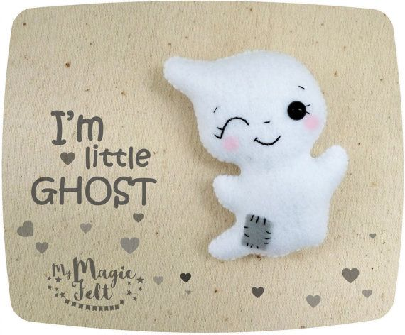 Ornament Halloween decor Ghost felt cute ornament by MyMagicFelt