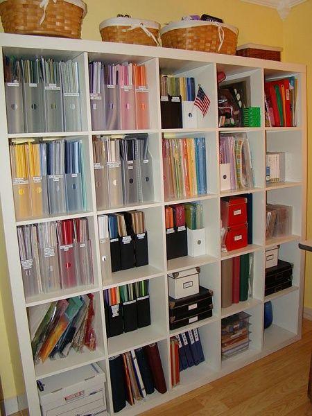 25 best scrapbook paper storage trending ideas on for Craft room paper storage