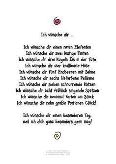 Die Persönliche Note: Ich Wünsche Dir ... Humorvolles Gedicht Für  Geburtstagsgrüße Und Andere