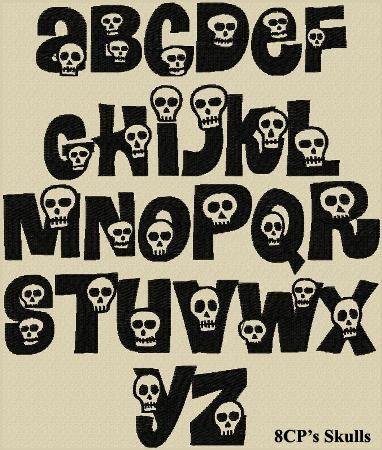 Skulls font