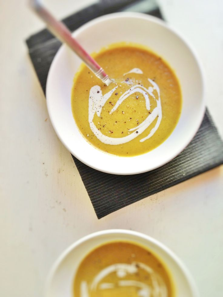 Golden Beet Soup with Garlic Cashew Cream // recipe includes turmeric, which is a great anti-inflammatory - for good health and great roller derby workouts!