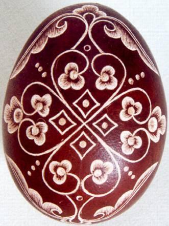 Karcolt tojás - Scratch-carved egg (25)