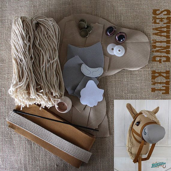 Stick Horse Hobby Horse Mustang Collection Chai