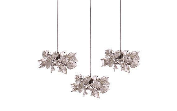 Triple Pendant Chandelier ceiling lighting Clear by yehudalight