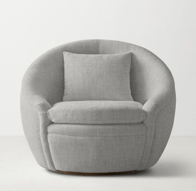Oberon Swivel Chair Swivel Chair Upholstered Swivel