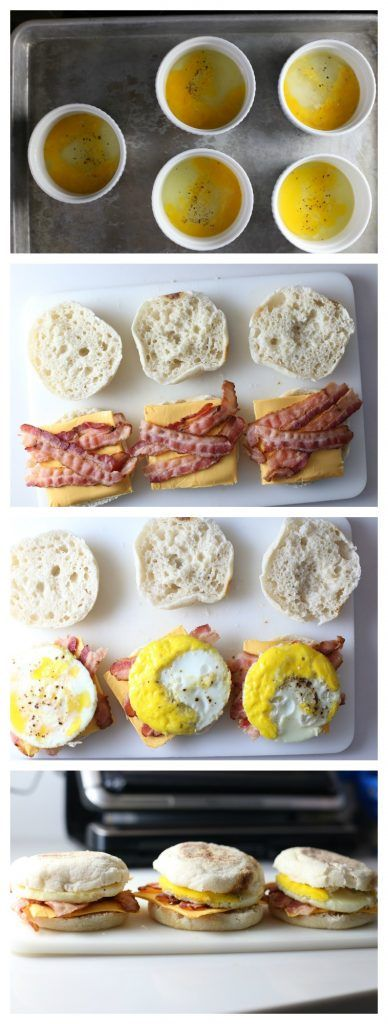 Freezer Breakfast Sandwiches - easy to make and you have breakfast to grab and go on busy school mornings! #ad