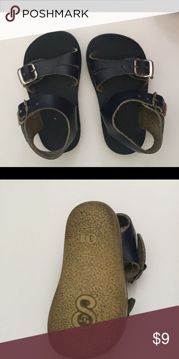 saltwater sun san sea wees navy blue sandals soft leather navy blue sandals size 3