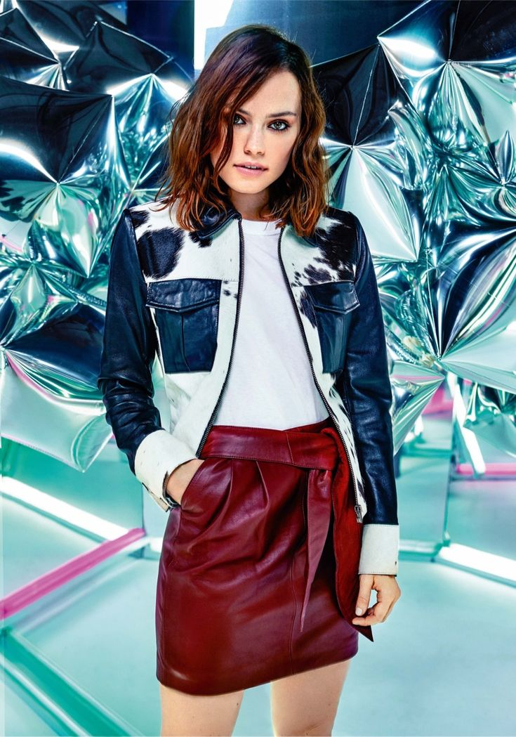 Star Wars actors Daisy Ridley Pose on ASOS Magazine December 2015 Photoshoot