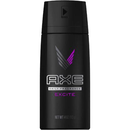 AXE Excite Body Spray for Men, 4 oz, Multicolor
