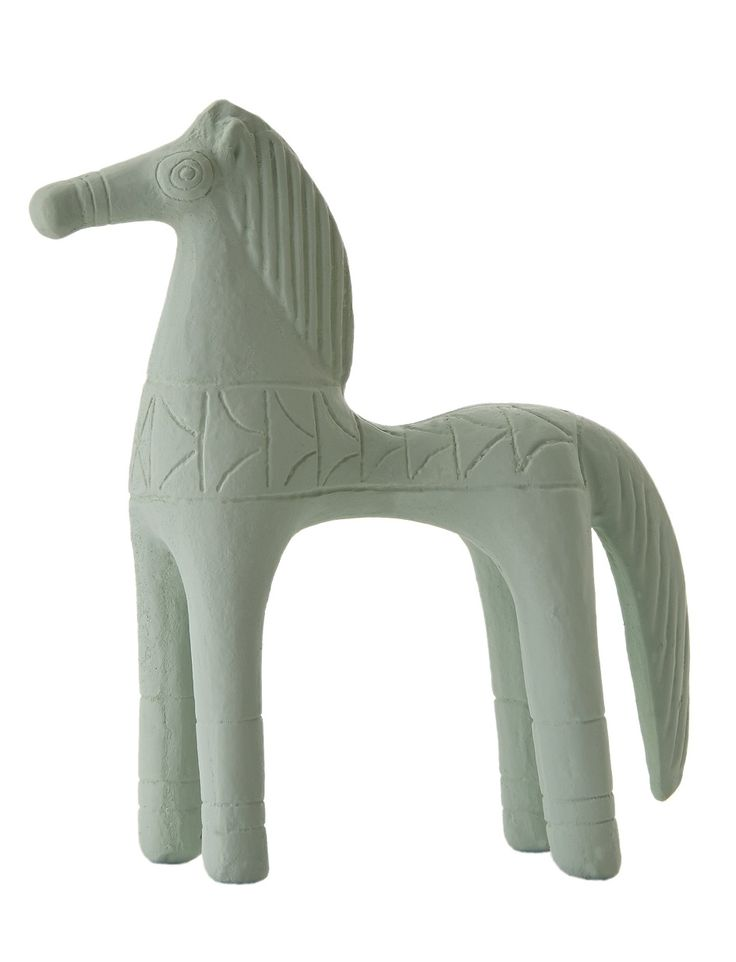 Horse Standing. Material: Ceramine. Color: Vintage Green.