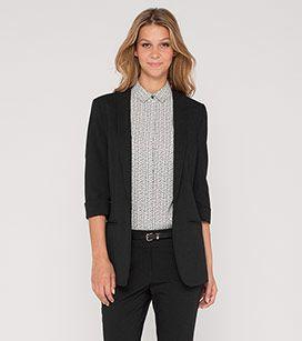 Damen Blazer mit 3/4-Arm in schwarz - Mode günstig online kaufen - C&A
