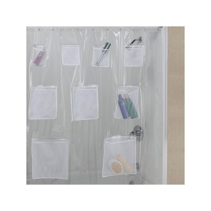 Creative Bath Pockets Vinyl Shower Curtain, Multicolor