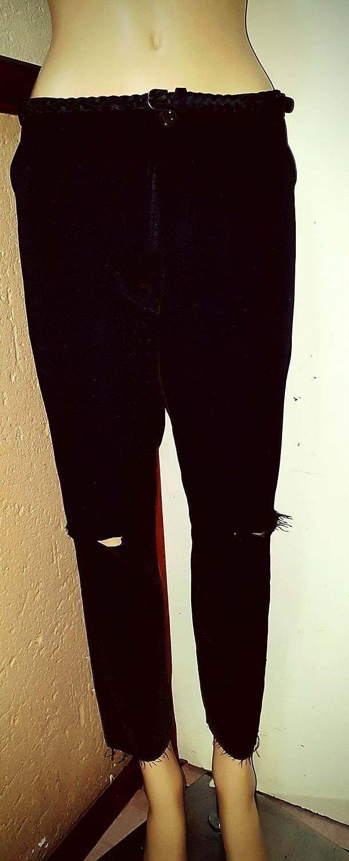 Scraped Knee Skinny Pant by BetrendByAdele on Etsy