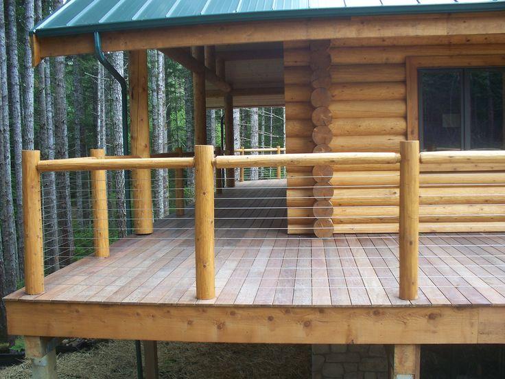 8 Best Log Cabin Deck Railing Images On Pinterest Cabin Decks Deck Balusters And Log Cabin Homes