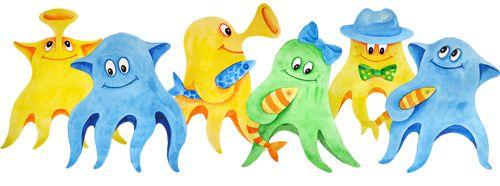 три картинка группы осьминожки фото видно, что