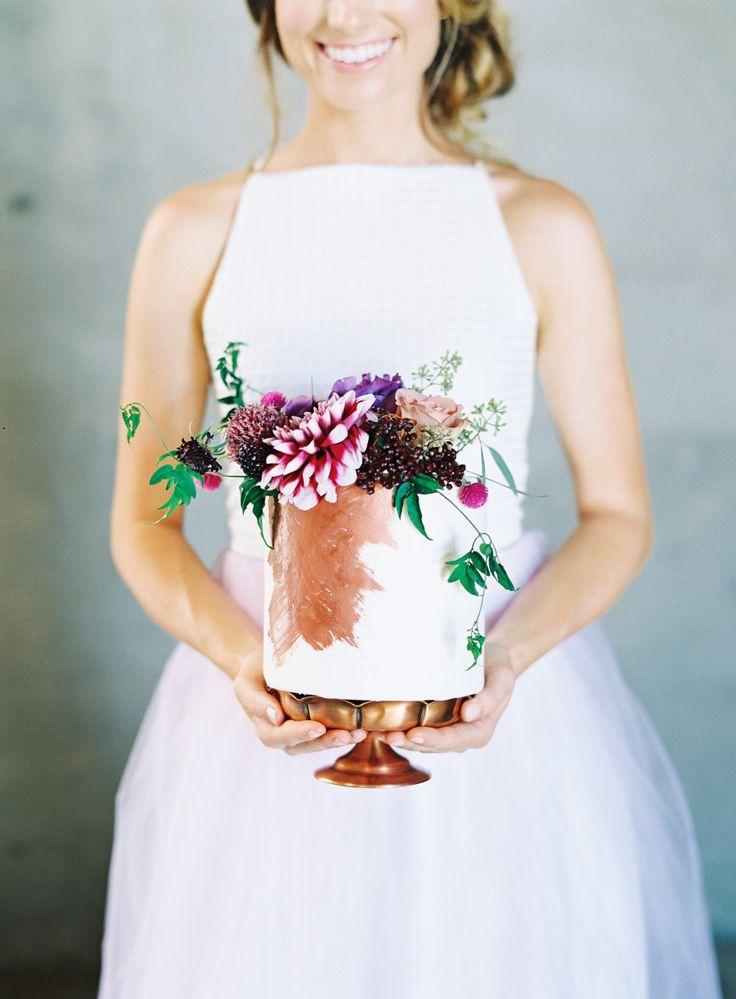 Jewel toned wedding cake: