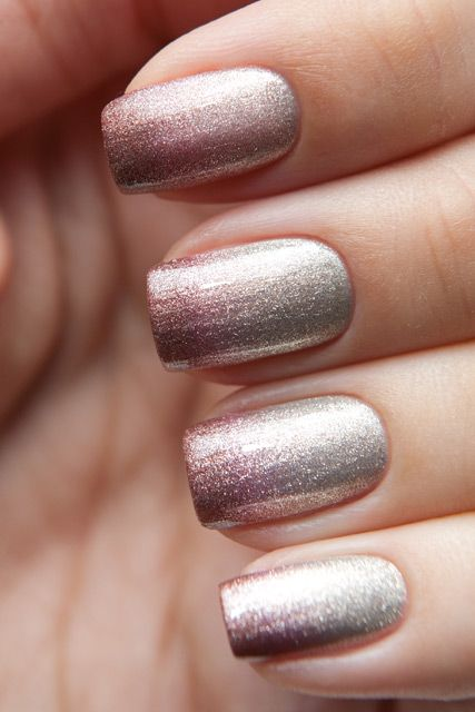 Ombré Sparkles For Finger Tips- Very Stylish Fingernail ideas for New Years Eve!  Worlds Best Fingernail Artist- by @ashersocrates