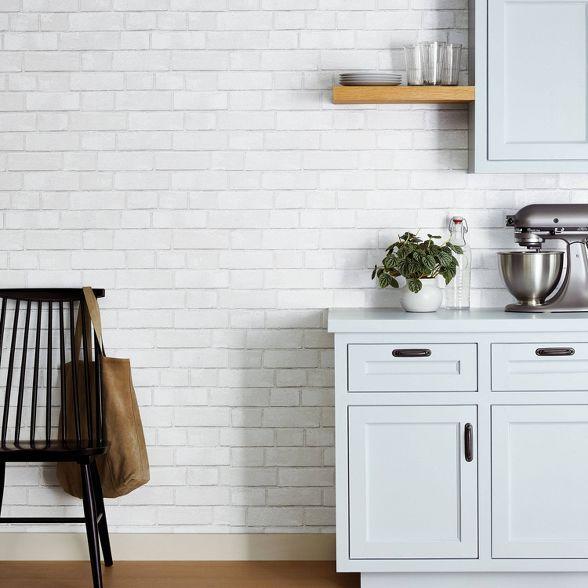 Faux Subway Tile Backsplash Wallpaper Kitchen Wallpaper Backsplash Wallpaper Kitchen Tiles Backsplash