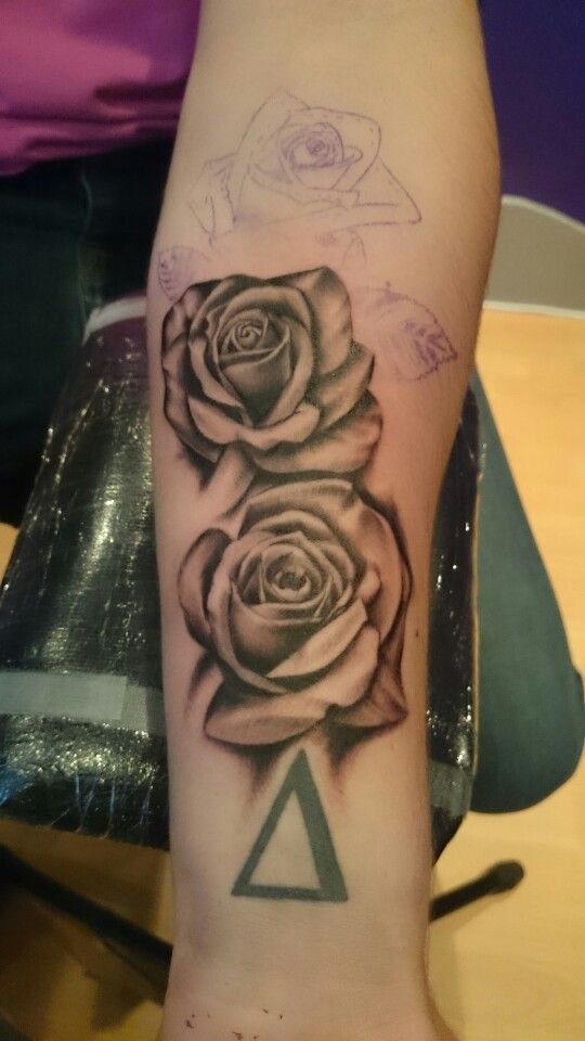 A few roses for alex's arm.