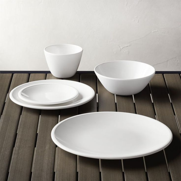 High-style white melamine dinnerware steps up casual dining with a glossy finish on top and matte finish below. BPA-free and completely food safe, the melamine used in our product does not contain any fillers or harmful additives.<br /><br /><NEWTAG/><ul><li>100% melamine</li><li>Dishwasher-safe</li><li>Made in China</li></ul><br />