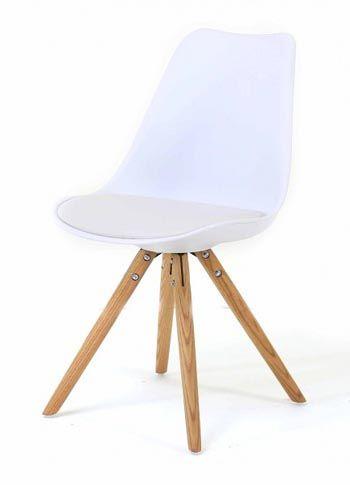 Lot 2 Chaises Blanches Design Scandinave CROSS | Decostock