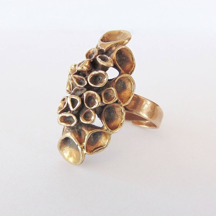 Hannu Ikonen for Valo-Koru vintage bronze 'Reindeer Moss' ring by KoruJewelleryCo on Etsy