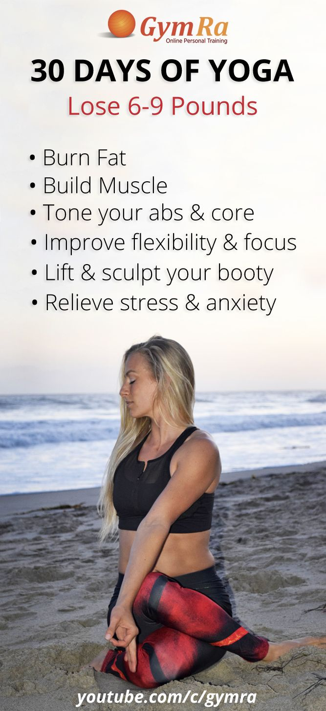 30 Day Yoga Program to Burn Fat and Build Muscle. This program is everything you've always wanted from a fitness regimen. Tone up, strengthen your entire body, improve flexibility, and lose fat. It's not an easy program, but you will become calmer, more focused, raise your self-awareness, and de-stress. Click the image to get started!