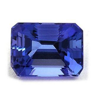 3.90 Carats Emerald Cut Tanzanite. find out more: toptanzanite.com