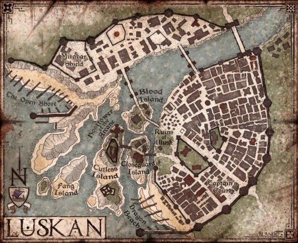 17 best mapas farun images on pinterest fantasy map city maps city of luskan publicscrutiny Images