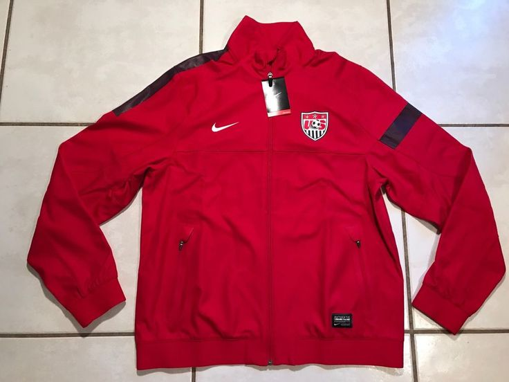 NWT NIKE USA National Team RED Sideline Soccer Track Jacket Men's Medium  | eBay