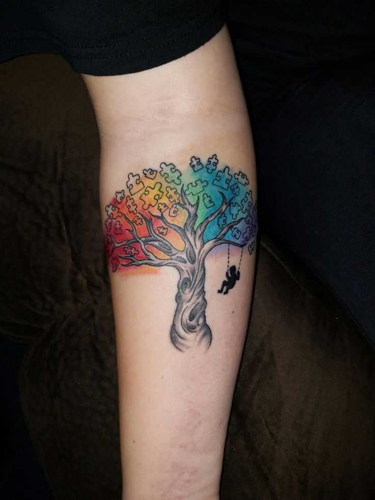 Got my first tattoo: Autism awareness for my brother. Done at Silk City Tattoo NJ