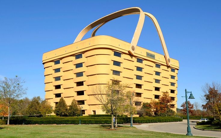 "great ""functional"" creativity!Offices Buildings, Strange House, Giants Baskets, Offices Looks, Head Offices, Company Picnic, Picnics Baskets, Longaberger Company, Home Offices"