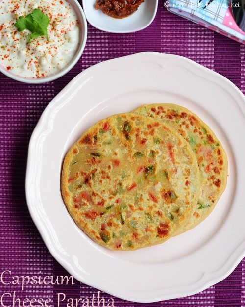 capsicum-cheese-paratha-rec by Raks anand, via Flickr