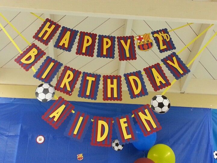 Barcelona theme party name banner! No one seem to have created a Barcelona banner yet so I designed my own for a nephew's birthday!