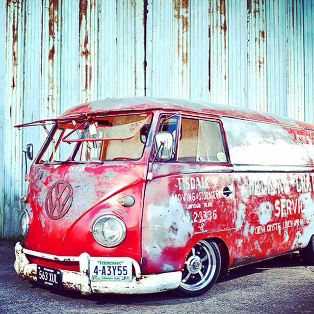 Red and Rusty VW Bus! #T1 #VW #Bulli