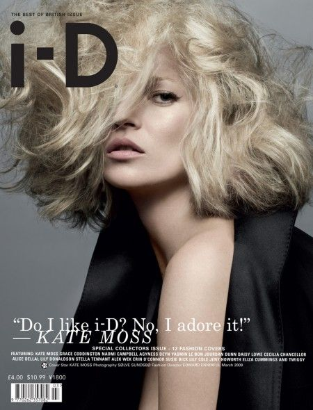 The Best of British Issue No. 297 March 2009 Kate Moss by Sølve Sundsbø