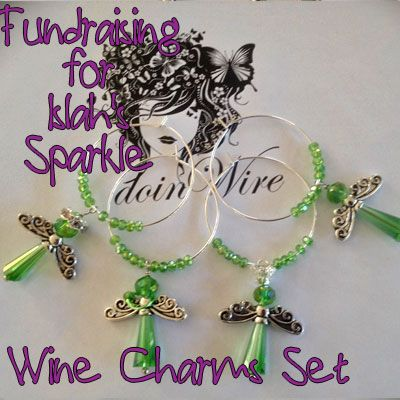 IslahsSparkle Wine Charms Angesl SetOf4 https://www.facebook.com/IslahsSparkle