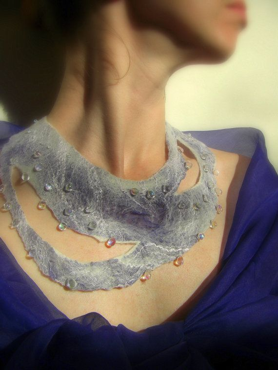 Felted neckpiece by Masha Kosmos http://mashakosmos.etsy.com