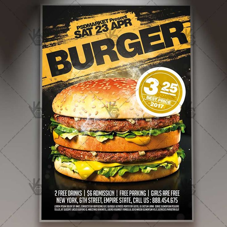 Burger - Premium Flyer PSD Template.  #bar #beef #beer #burger #burn #cheeseburger #chicken #cooking #country #dinner #drinks #fastfood #festival #fire #food #frenchfries #fries #grill  DOWNLOAD PSD TEMPLATE HERE: https://www.psdmarket.net/shop/burger-premium-flyer-psd-template/  MORE FREE AND PREMIUM PSD TEMPLATES: https://www.psdmarket.net/shop/