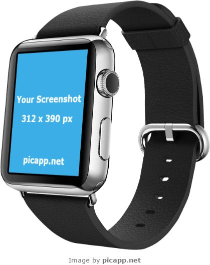 Do not hesitate to present to the world your new iOS app with this gorgeous, black Apple Watch image. Put your iOS app screenshot in this cool smartwatch and impress your customers! Go to Picapp.net, choose what device frame you prefer and upload your screenshot. Everything it's easy and fast! Picapp.net is an online tool with a friendly interface which help you to save a lot of money and time.  #apple #nobackground #mockup #AppleWatch #smartwatch #picapp