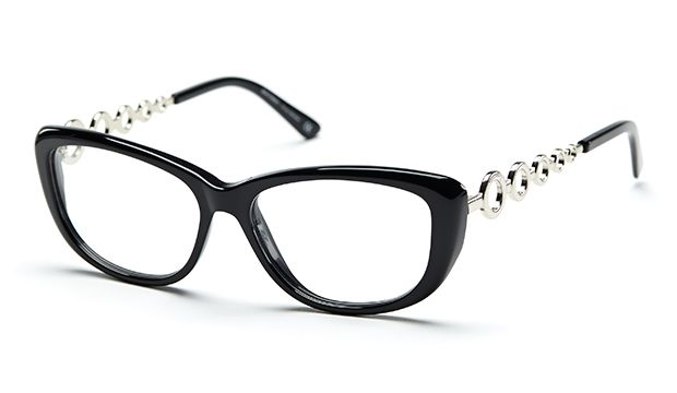 Bought myself a new pair of glasses this weekend, finally! Aren't they lovely? :D (black, silver, eyeglasses, eyewear, frames, retro style) || Efva Attling 8547-9501