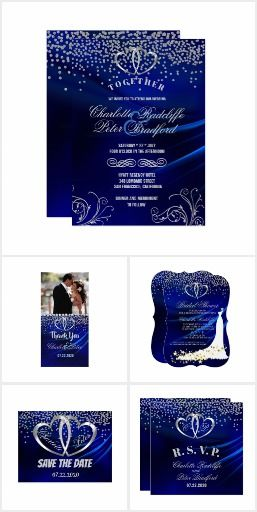 Royal Blue Diamonds And Heart Wedding Suite Simply Weddings