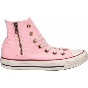 klassieke Converse all star hi side zip heren sneakers (Roze)